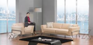 Quality Living Room Luxury Leather Sofa Set , Modern Modular Corner Sofa for sale