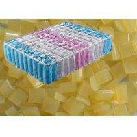 Light Yellow Hot Melt Adhesive Glue , High Strength Hot Melt Glue Made Spring Pocket Mattress Part