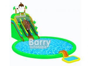 China Cartoon Jurassic Inflatable Water Park Jungle Inflatable Aqua Park CE Certificate on sale