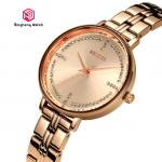 Creative Rose Gold Waterproof Watch For Women 30mm Dial Diamter