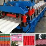 Hydraulic Pressing Roof Color Steel Tile Roll Forming Machine in Blue