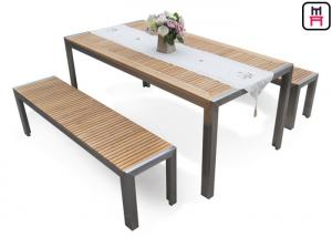 Plastic Wood Outdoor Restaurant Tables Commercial Kd Patio Dining Sets With Bench For Sale Outdoor Restaurant Tables Manufacturer From China 108162912