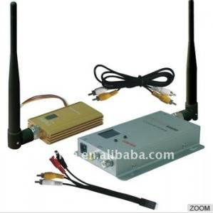 China 900MHz 1500mW fpv rc wireless audio and video transmitter receiver long range on sale