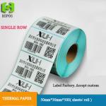 Las hojas termales de las etiquetas 50*30mm*800 de las etiquetas engomadas que imprimen el papel adhesivo del código de barras aceptan orden de encargo