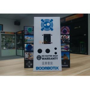 China White Acrylic Retail Window Displays For Bluetooth Speaker Laser Engraving on sale