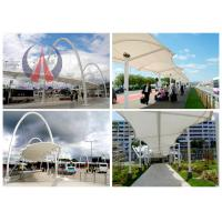 Steel Work Tensile Membrane Roof Porch Shade Canopy Structures Saddle Shape