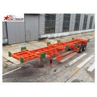 2/3 Axles Port Yard Terminal Trailer Heavy Duty Tandem Suspension With 12 Leaf Spring