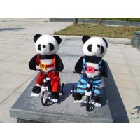 Musical Bicycle Animal Panda Dancing and Singing and Encircling Electronic Panda Soft Toy