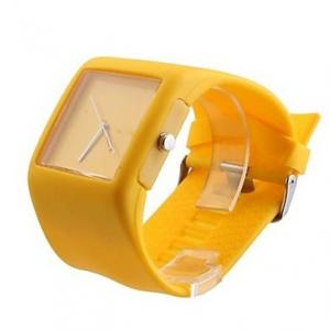 China Big Square Japan Movement Jelly Silicone Watches , Jelly Watches For Womens on sale