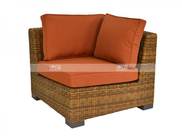 Half Round Wicker Sectional Sofa Set