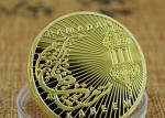 3D Raised Baked Enamel Military Medal , Arab Culture Commemorative Gold Coin