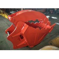 Single Cylinder Excavator Bucket Grab , Excavator Rock Bucket For Doosan DX225 Excavator