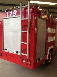 China Aluminium Alloy Roll up Shutter Doors for Fire Truck Rolling Curtain on sale
