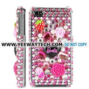 China Cute Diamond Rhinestone Bling Hard Case for iPhone 4 / 4S (Pink) on sale