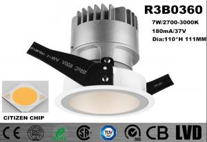 China Die - Casting Aluminum Heat Sink Round Slim Trim LED COB Downlights 7W 2700K - 3000K on sale