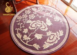 China Soft Round Contemporary Area Rugs , Entry Door Mats Non Deformation on sale