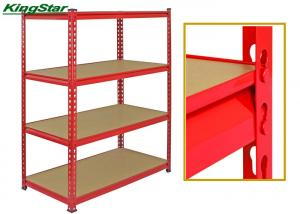 China Multi Layer Bolt Free Shelving Systems , Industrial Storage Racks Heavy Duty on sale