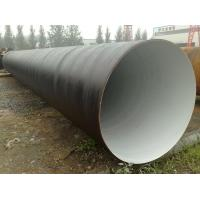 China SAW Welding Seam Spiral Welded Steel Pipe 3PP Coatings Surface on sale