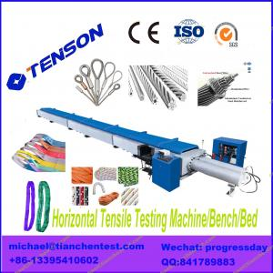 China WLW-2000 Horizontal Tensile Testing Machine for wire rope, web sling, ACSR, overhead conductor on sale