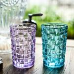 Tall Drinking Glass Water Cup , Weaving Personalized Whiskey Tumblers