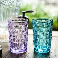 Tall Drinking Water Colored Whiskey Glasses / Weaving Personalized Whiskey Tumblers