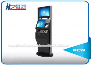 China Black Color LCD Touch Screen Coin Counting Kiosk Stand With Keyboard Dual Screen on sale