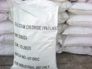 China flocons du chlorure de calcium de grande pureté 74%min on sale