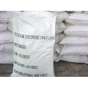 China flocons du chlorure de calcium de grande pureté 74%min on sale