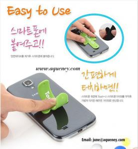 China High quality colorful TOUCH-U silicone phone stand, Custom logo printing on sale