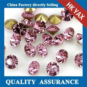 China Rose YAX Rhinestone Stick On,Non Hot Fix Rhine Stones,Shiny Glue On Rhinestones for Shoes on sale