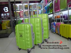 China latest new type abs luggage sets with aluminum frame super light weight on sale