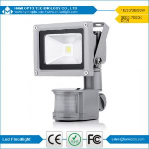 China 3years warranty high quality 12V DC 10W PIR LED flood light CE RoHS Gray housing on sale