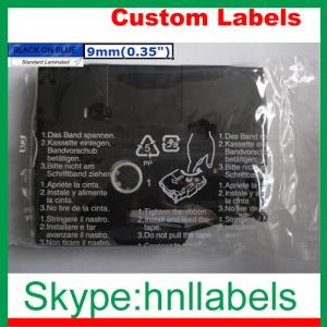 China Black on Blue Label Tape Compatible for Brother TZ-521 TZe-521 0.35 for P-Touch 8m on sale