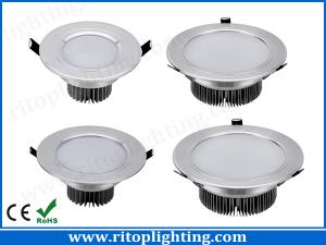 China 3-15W Silver high power LED downlight ceiling recessed downlight on sale