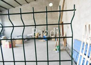 China Public Building Pvc Coated Wire Fencing, Welded Steel Mesh Fence Panels With W Shape on sale