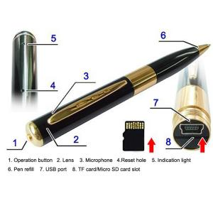 China high qulity pen camera recorder with external TF card up to 16G on sale