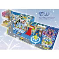 Indoor soft playground in snowy design  for kids with snow theme