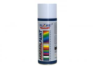 China White Heat Resistant Aerosol Spray Paint Permanent For Wood Interior / Exterior on sale