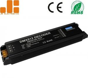 China 3CH DC12V Output DMX512 Decoder LED Dimmer Controller with High Voltage Intput on sale