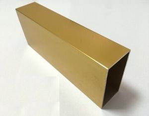 China Perfiles de aluminio anodizados de oro de la protuberancia para Windows de aluminio de desplazamiento on sale