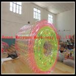 China PVC1.2MM Colorful 2.2m hot air welding  Floating Kids Toys colorful  Inflatable water roller ball for water pool wholesale