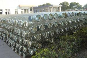China SGS High Efficiency Filter Media Bag Galvanized Cage For Supporting Filter Bags on sale