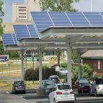 AL 6005-T5 SUS 304 Solar Carport Structures For Open Filed Projects