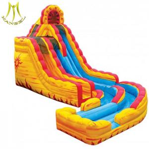 China Hansel custom commercial kids toys new products factory price cheap children inflatable slide on sale