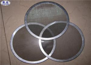 China Multi - Layer Stainless Steel Filter Disc , 13 / 47 Mm Sintered Metal Disc With Edge on sale