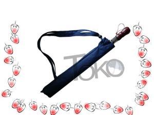 China Plastci Cap Folding Golf Umbrella , Mens Black Umbrella Wooden Handle Metal Tips on sale