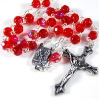 China 彫面を切り出されたガラス数珠 on sale