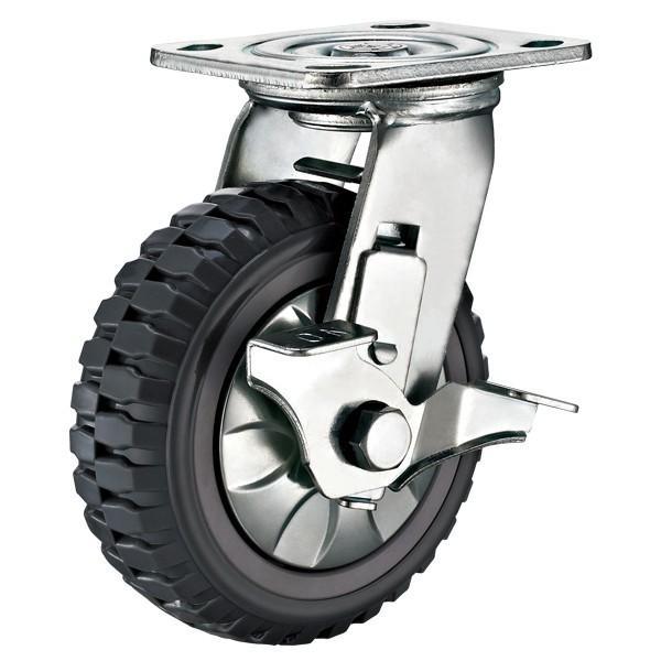 "5/"" x 2/"" Heavy Duty /""Polyurethane Wheel/"" Caster 2 Swivels and  2 Rigids"