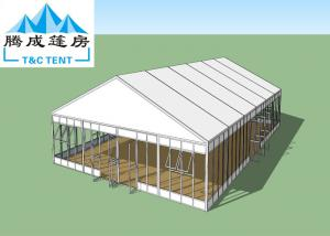 China 1000 People Aluminum Frame Waterproof Canopy Tent , White Wedding Tent With Transparent Decoration on sale