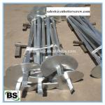 Hot dipped Galvanized Steel square lead helical anchor for Pile Foundations